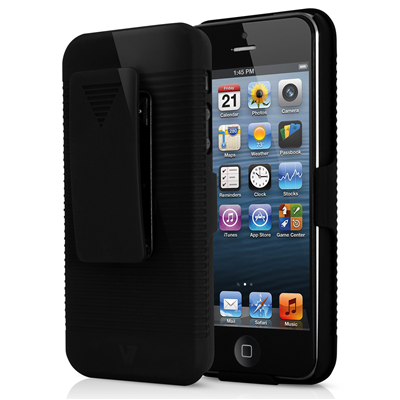V7 Clip-on Holster Case für iPhone 5s | iPhone 5 schwarz
