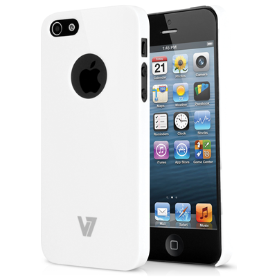 V7 High Gloss Case für iPhone 5s | iPhone 5 weiss