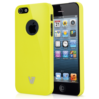 V7 High Gloss Shield Case für iPhone 5 gelb