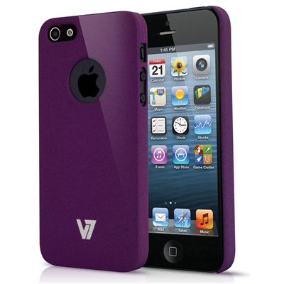 V7 Metro Anti-slip Case für iPhone 5s | iPhone 5 lila