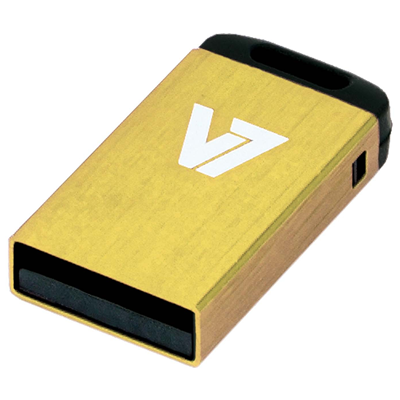 V7 Nano USB 2.0 Flash Drive 16GB gelb (VU216GCR-YLW-2E)