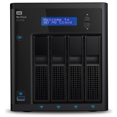 Western Digital My Cloud DL4100, 8TB (WDBNEZ0080KBK-EESN)