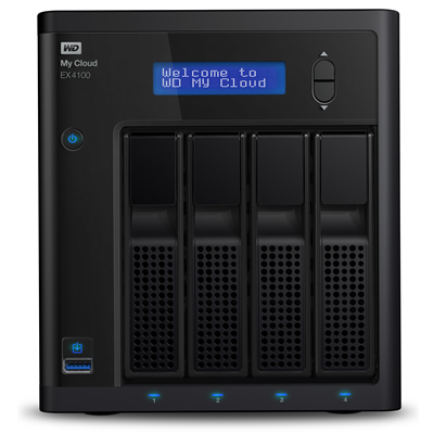 Western Digital My Cloud EX4100, 24TB (WDBWZE0240KBK-EESN)