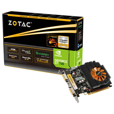 Zotac ZT-71109-10L NVIDIA GeForce GT 730 4GB