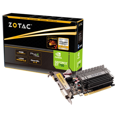 Zotac ZT-71115-20L NVIDIA GeForce GT 730 4GB